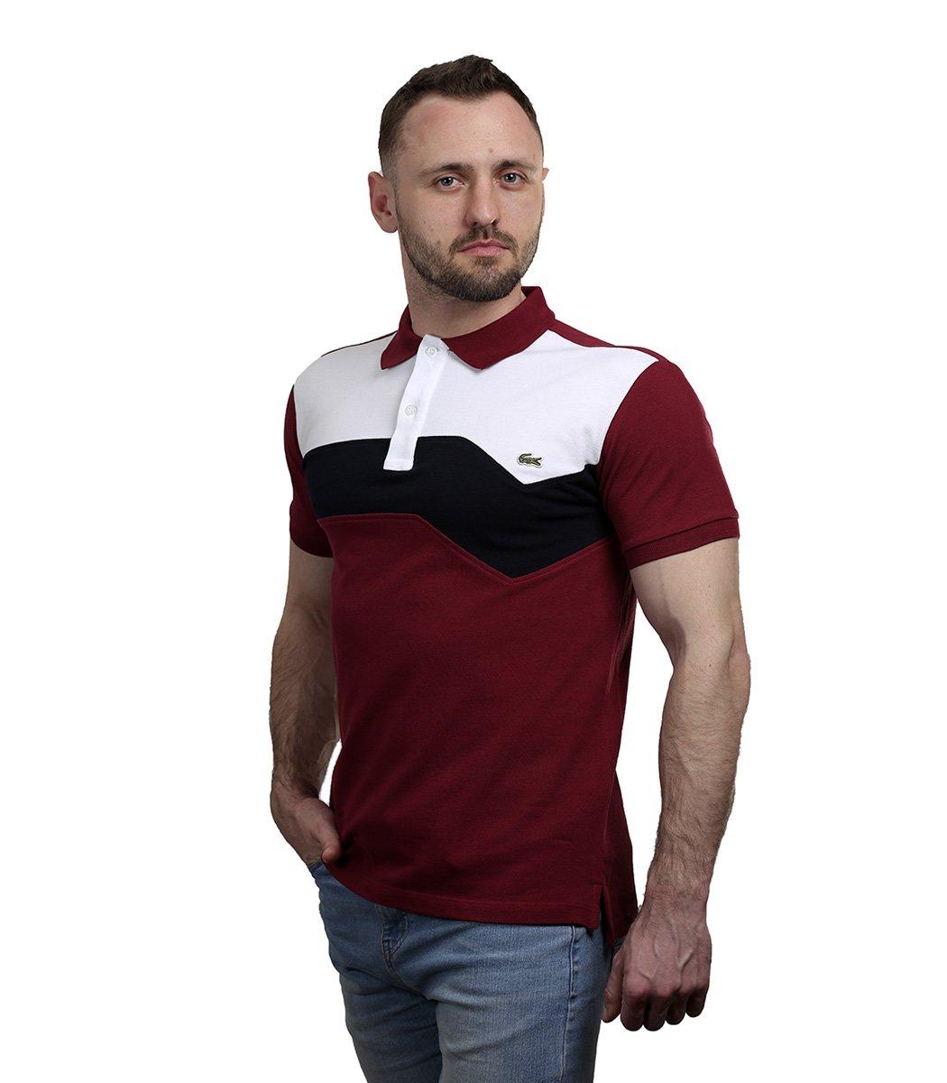 Красная футболка поло Lacoste