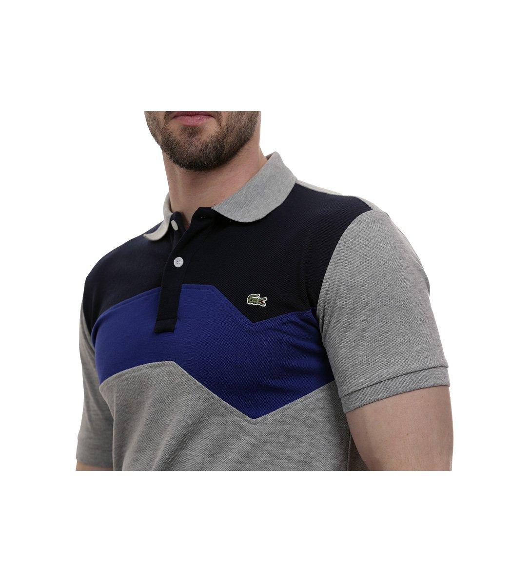 Серая футболка поло Lacoste - Серый - Вид 5