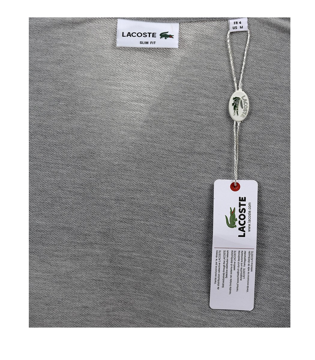 Серая футболка поло Lacoste - Серый - Вид 7
