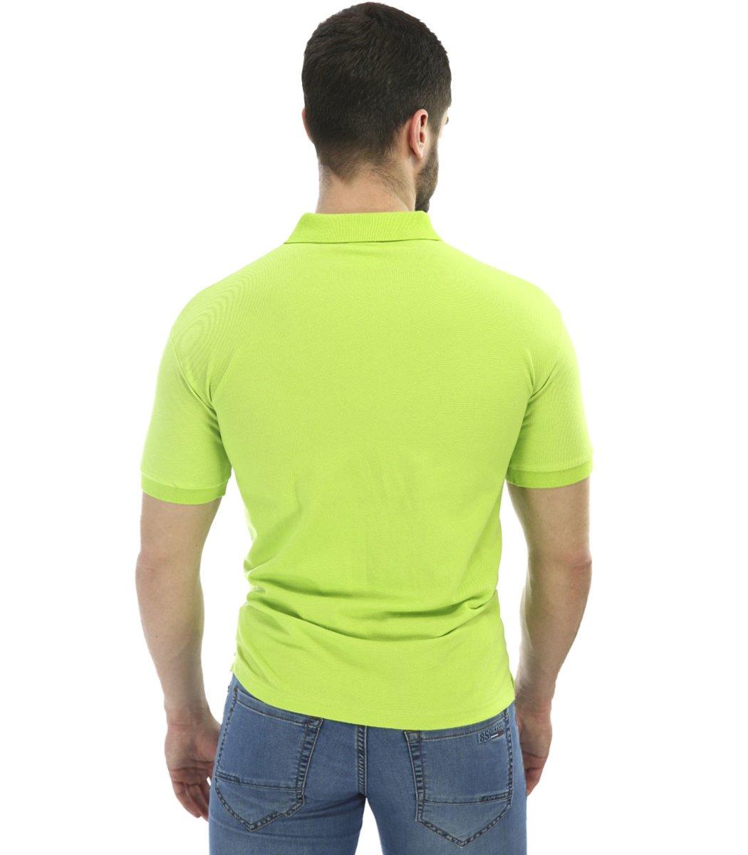 Мужская салатовая футболка поло Lacoste