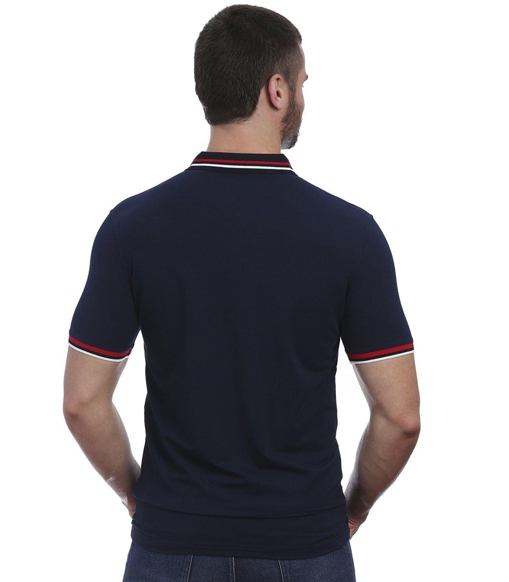 Темно-синяя футболка поло с Paul&Shark N4 - Темно-синий - Вид 5