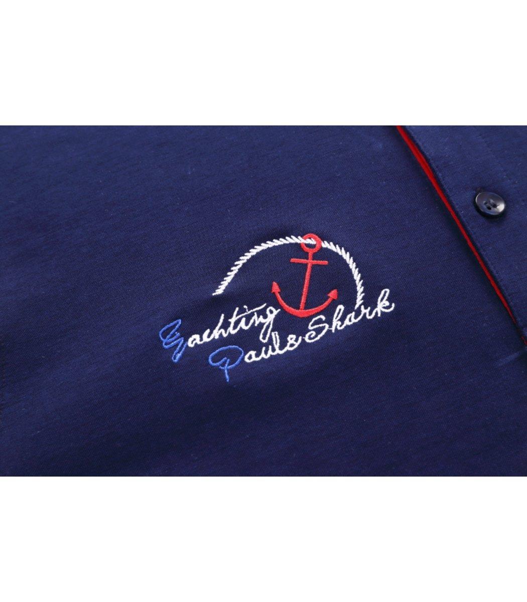 Темно-синяя футболка поло с Paul&Shark N4