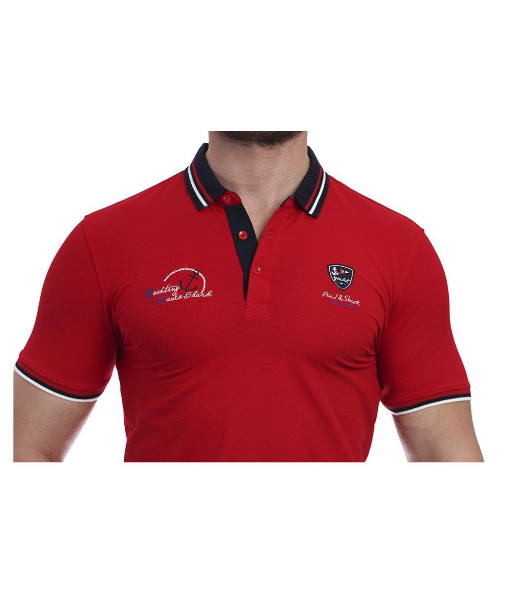 Красная футболка поло Paul&Shark N4