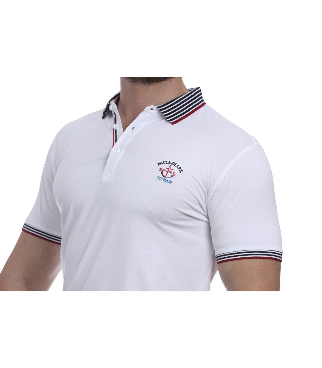 Белая футболка поло Paul&Shark N5