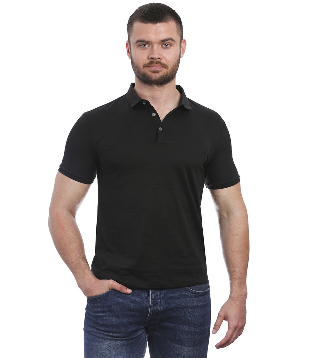 Черная футболка поло  Paul&Shark