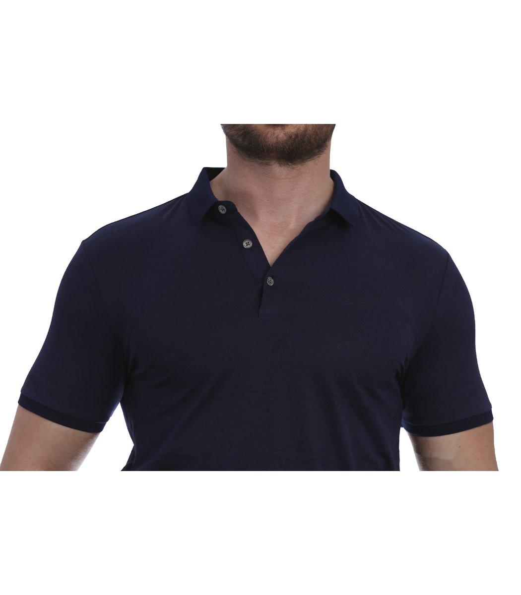 Темно-синяя футболка поло Paul&Shark