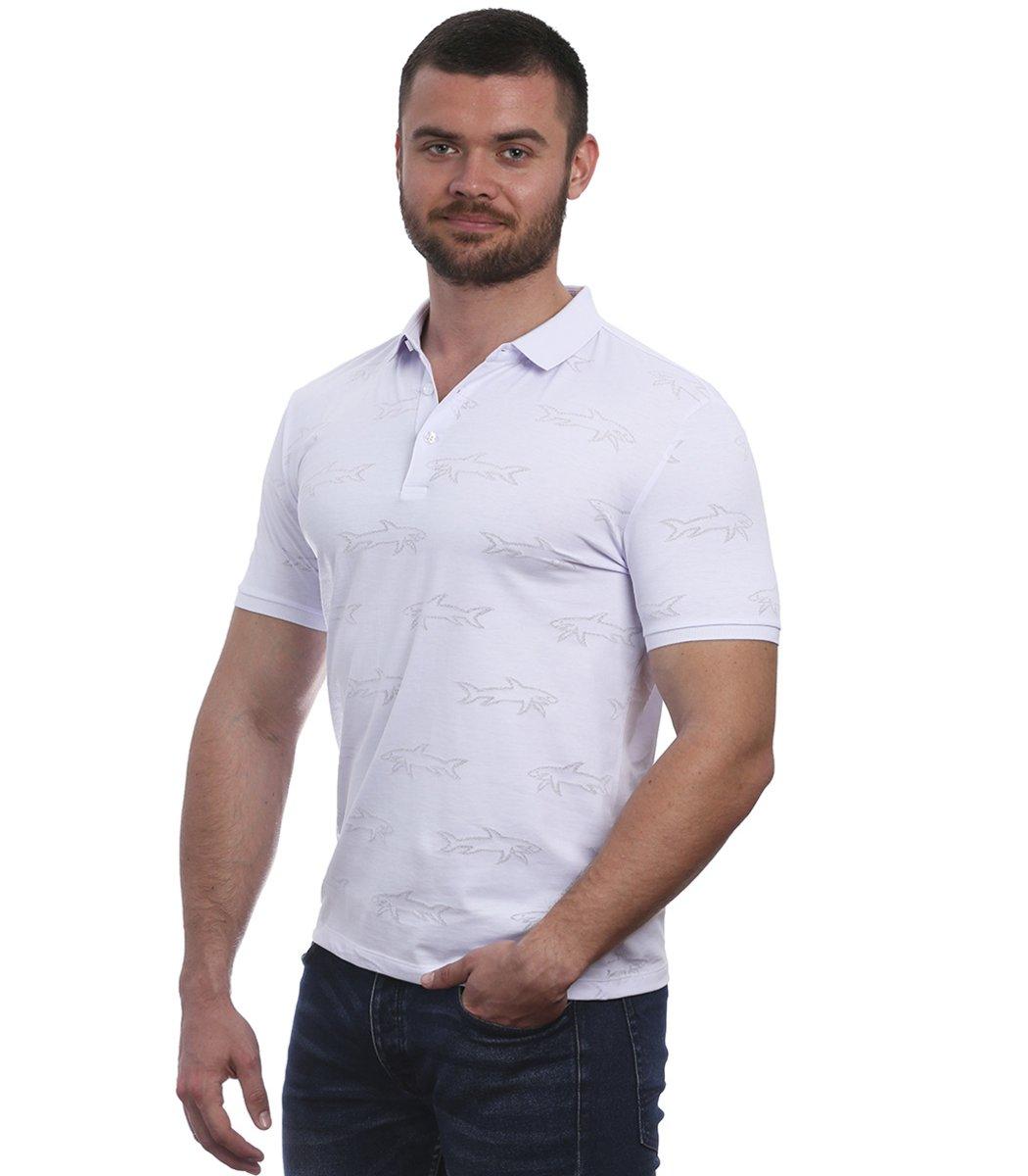Белая футболка поло Paul&Shark
