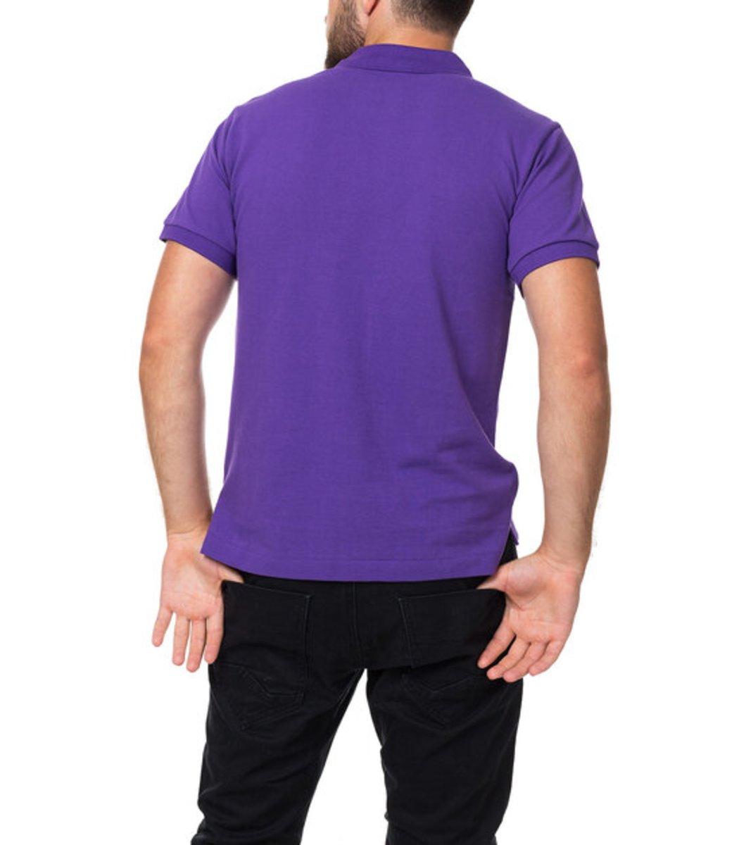 Мужская фиолетовая футболка поло Ralph Lauren R1