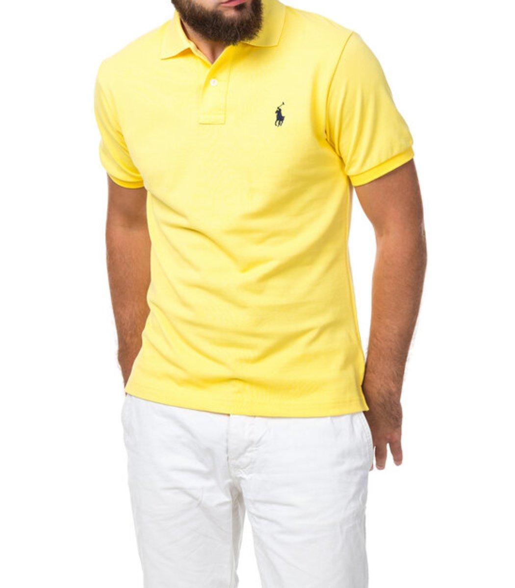 Мужская желтая футболка поло Ralph Lauren R1