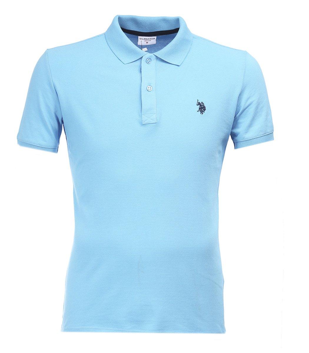 Светло-голубая футболка поло U.S.Polo ASSN U1 - Светло-голубой - Вид 1