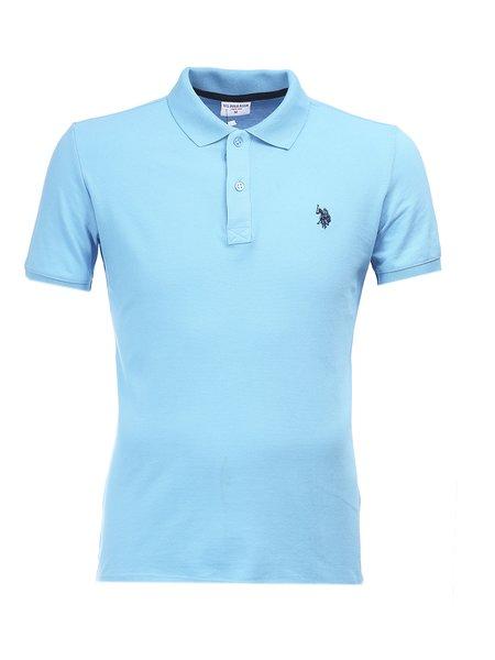 Купить - Светло-голубая футболка поло U.S.Polo ASSN U1-1US1-skyblue - в интернет магазине Polo-Man.ru