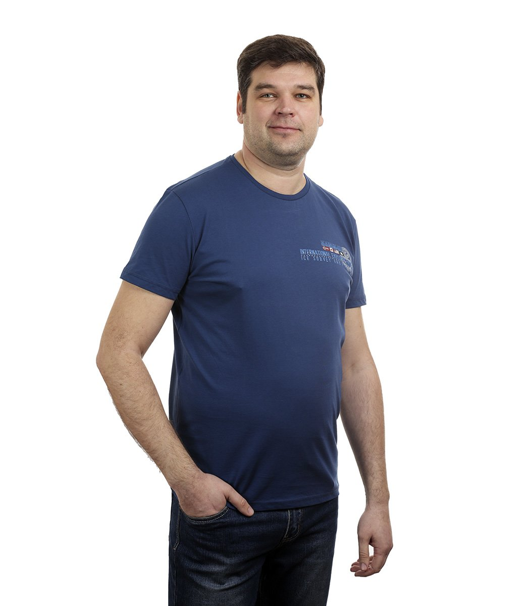 Синяя футболка Napapijri - Синий - Вид 1
