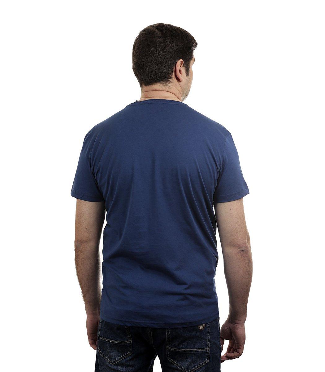 Синяя футболка Napapijri - Синий - Вид 3