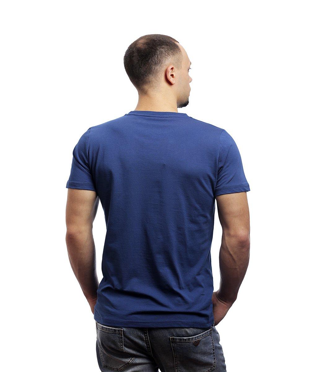 Синяя футболка Paul&Shark с принтом