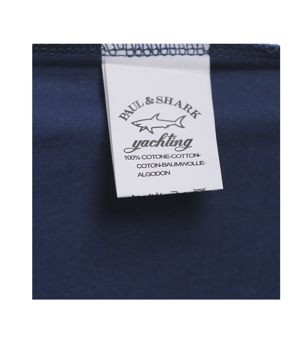 Синяя футболка Paul&Shark с принтом - Синий - Вид 8
