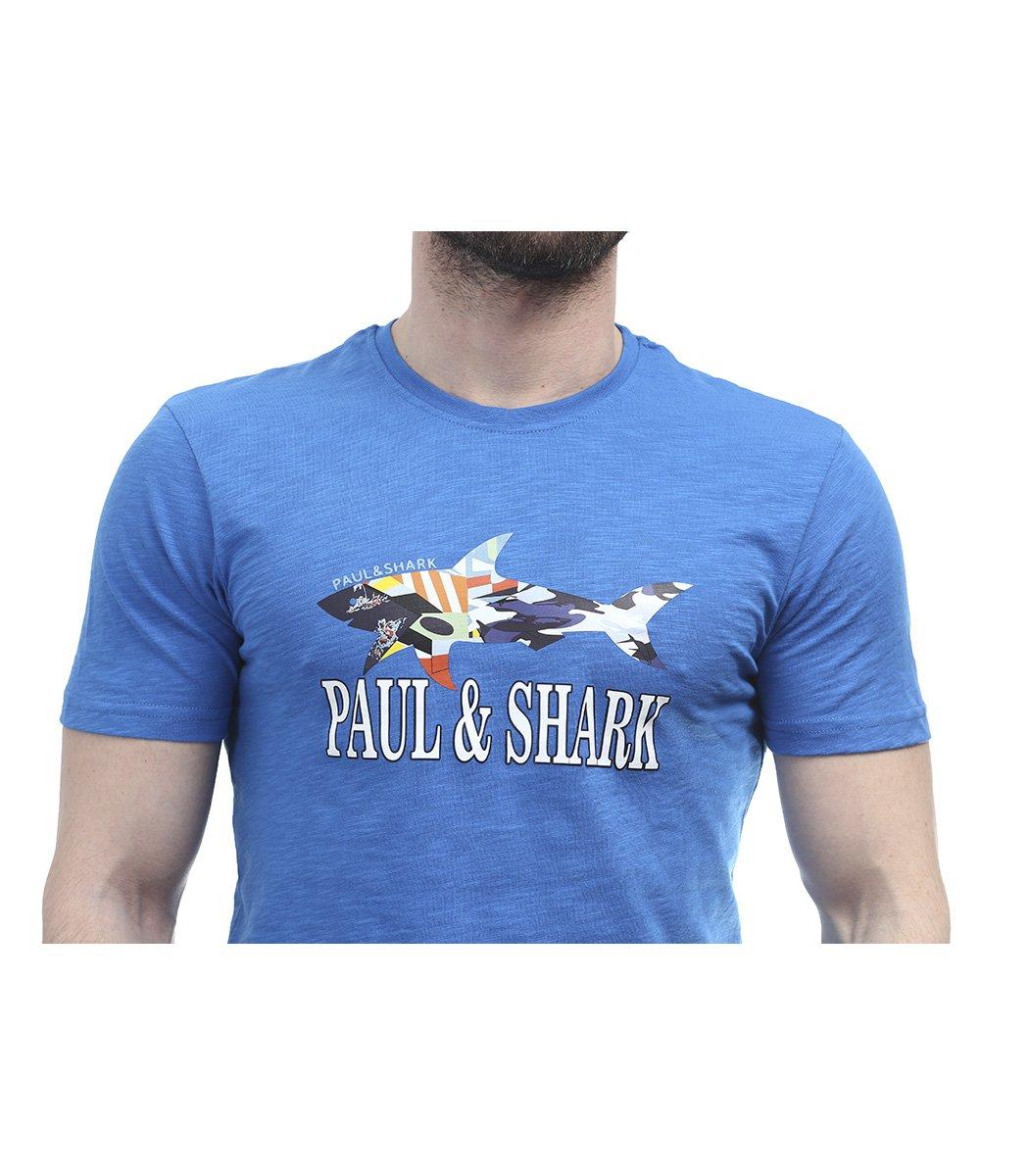 Синяя футболка Paul&Shark FP2