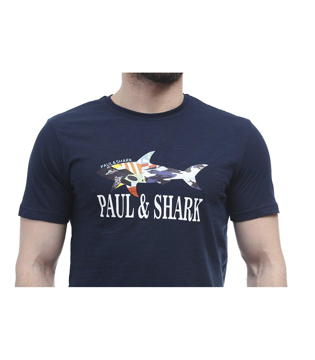 Темно-синяя футболка Paul&Shark FP2