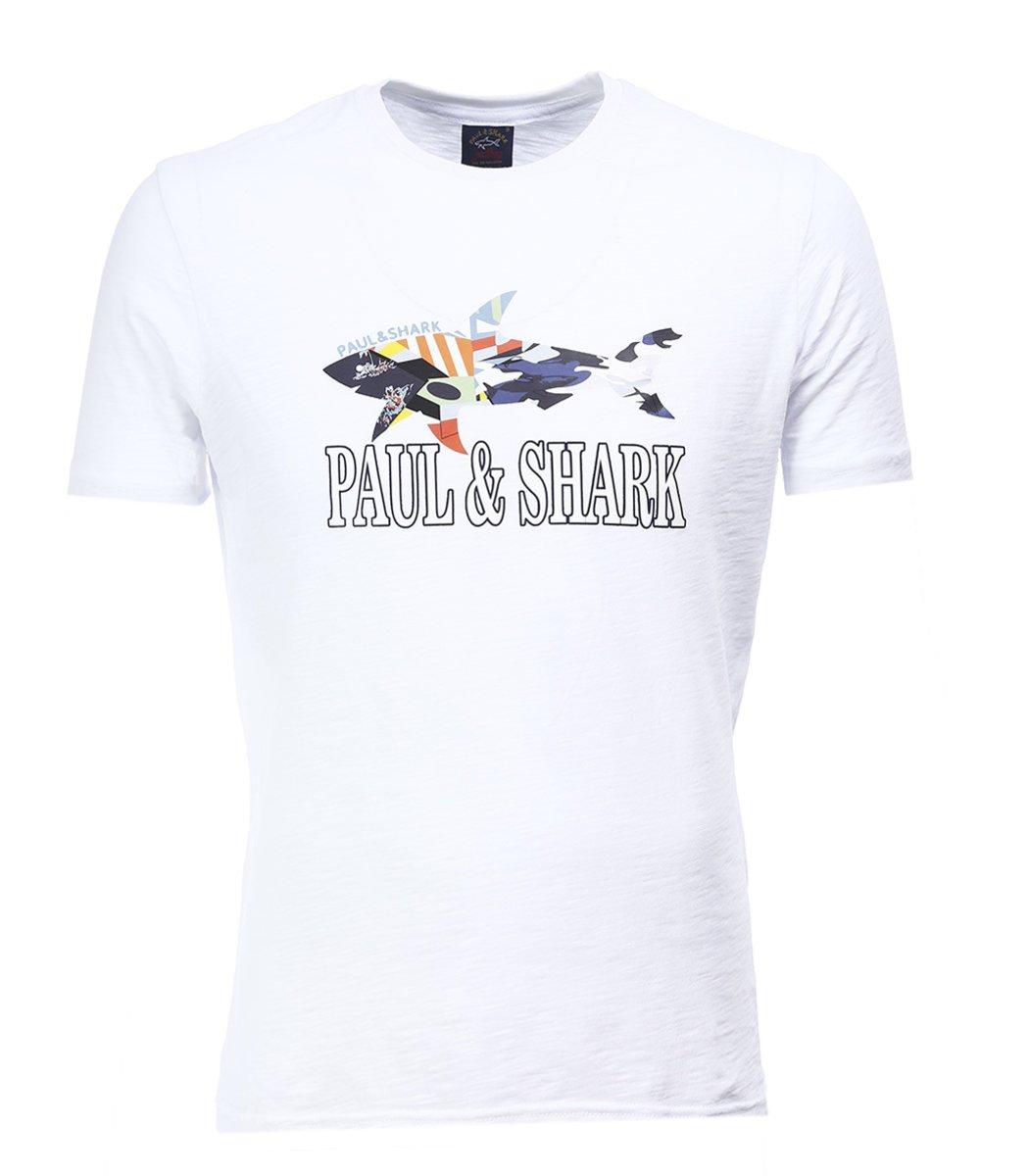 Белая футболка Paul&Shark FP2