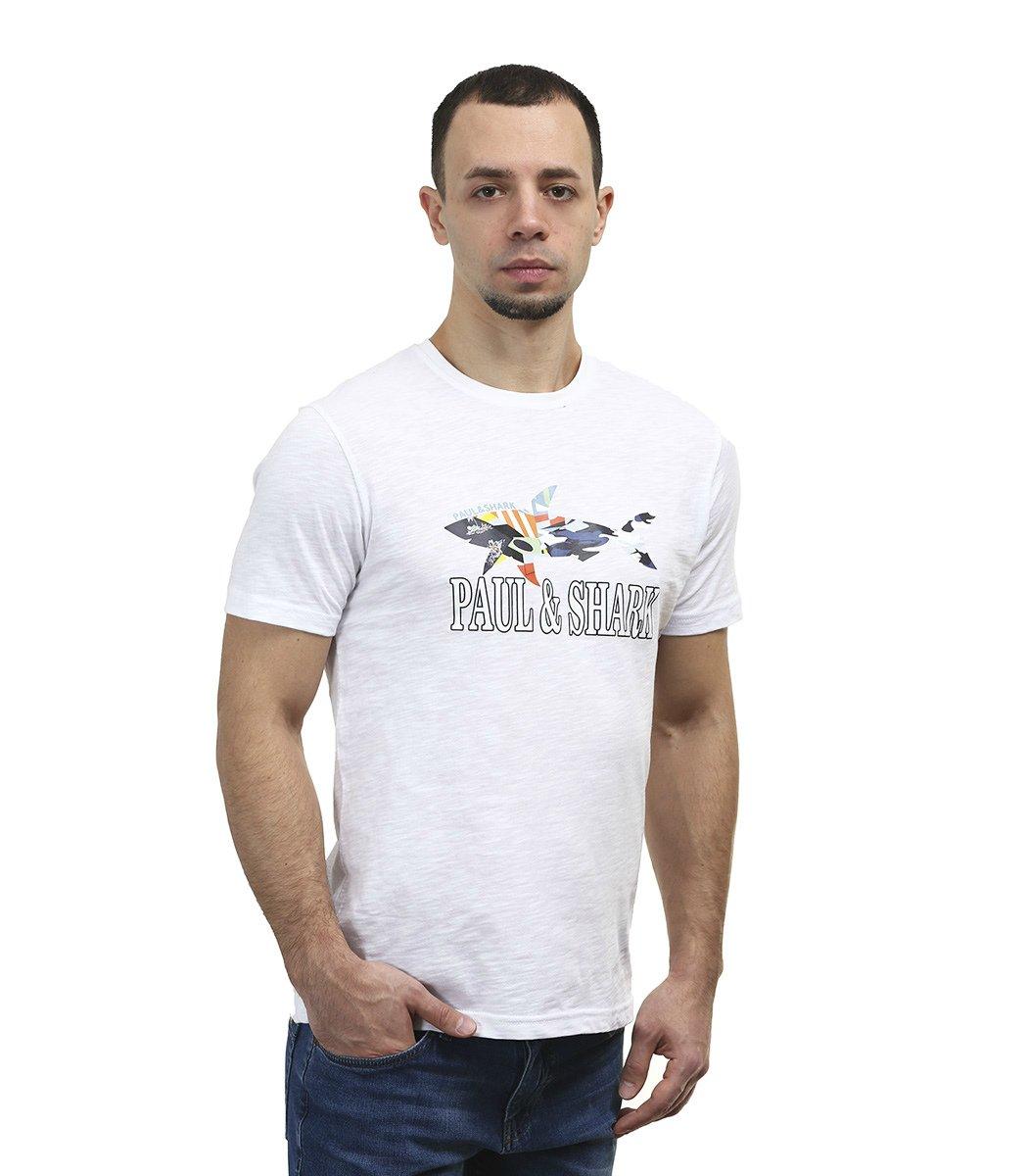 Белая футболка Paul&Shark FP2 - Белый - Вид 4