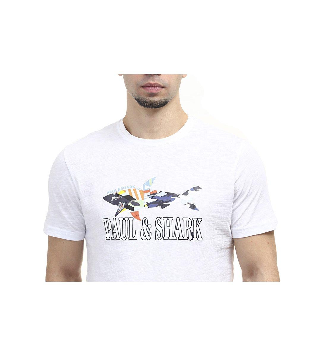 Белая футболка Paul&Shark FP2 - Белый - Вид 5
