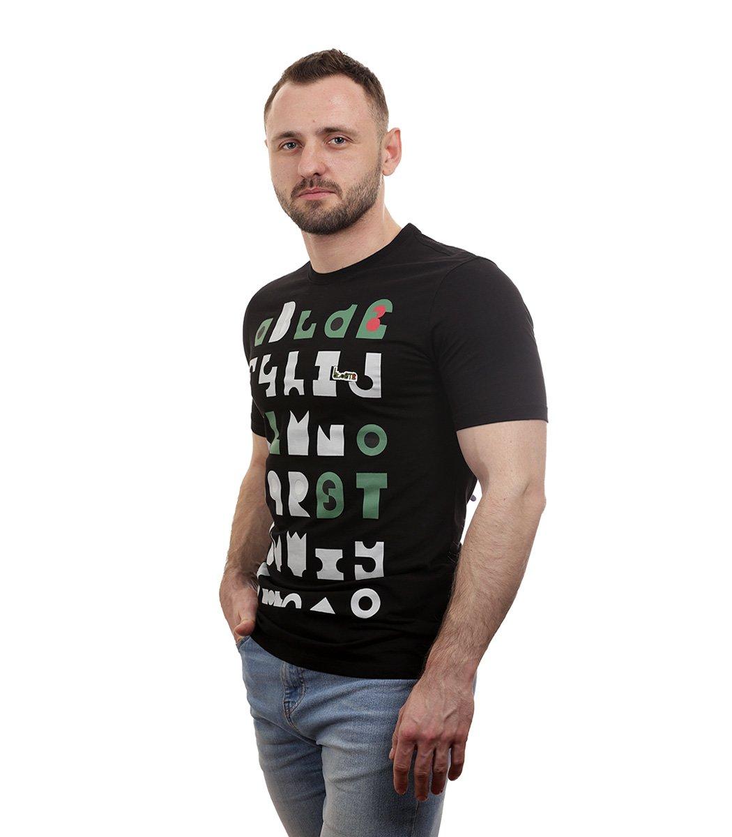 Черная футболка с принтом Lacoste - Черный - Вид 4