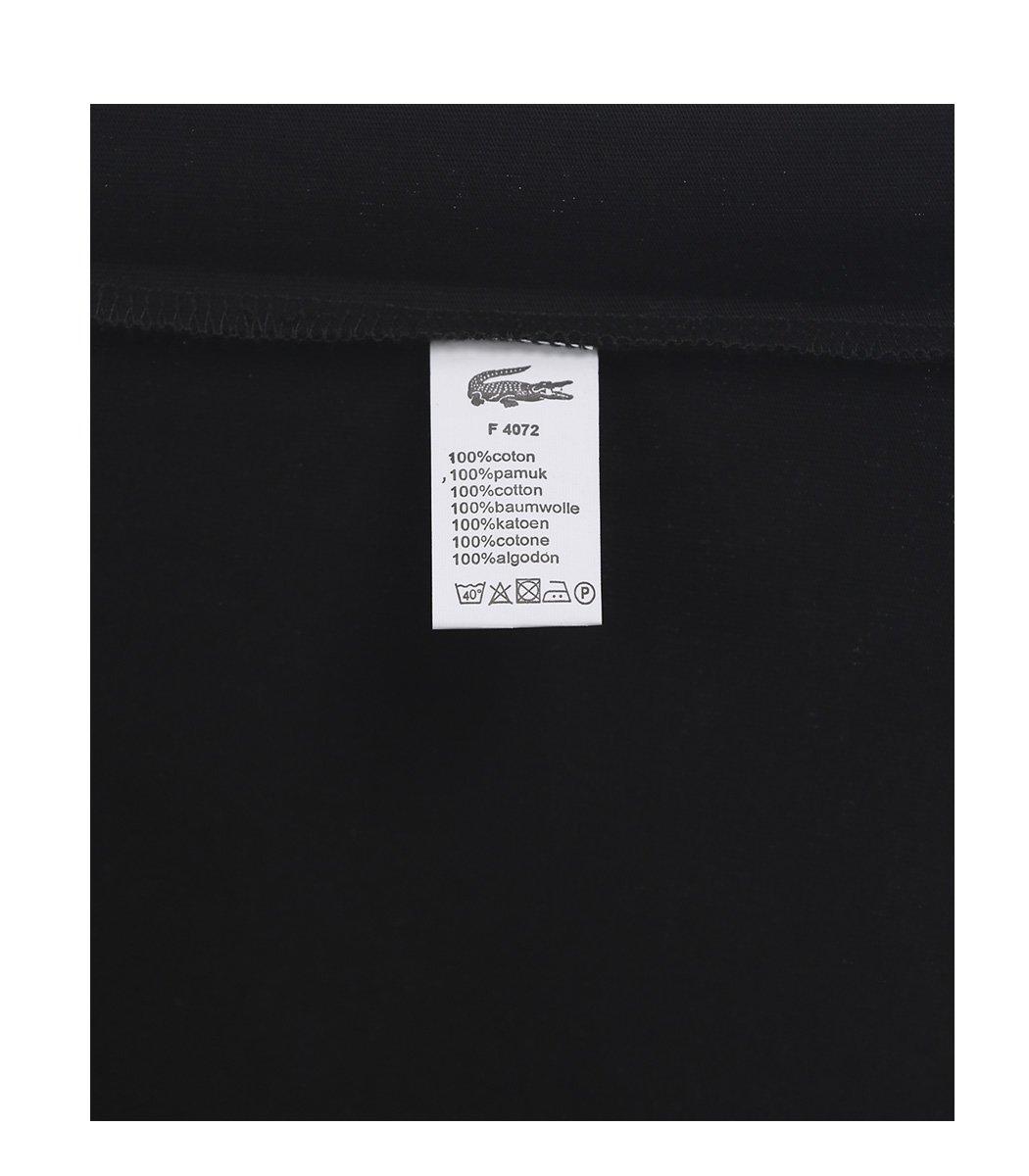 Черная футболка с принтом Lacoste