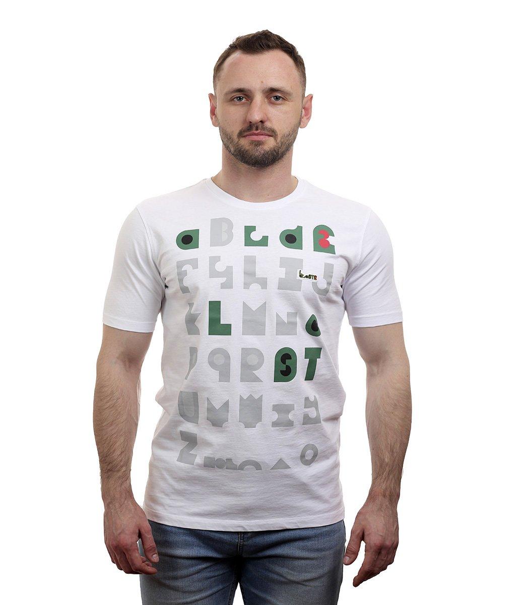Белая футболка с принтом Lacoste - Белый - Вид 2