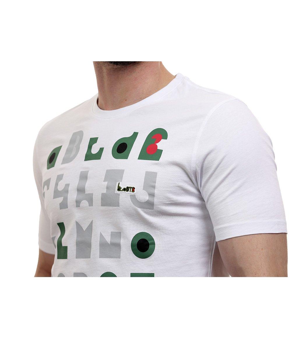 Белая футболка с принтом Lacoste - Белый - Вид 4