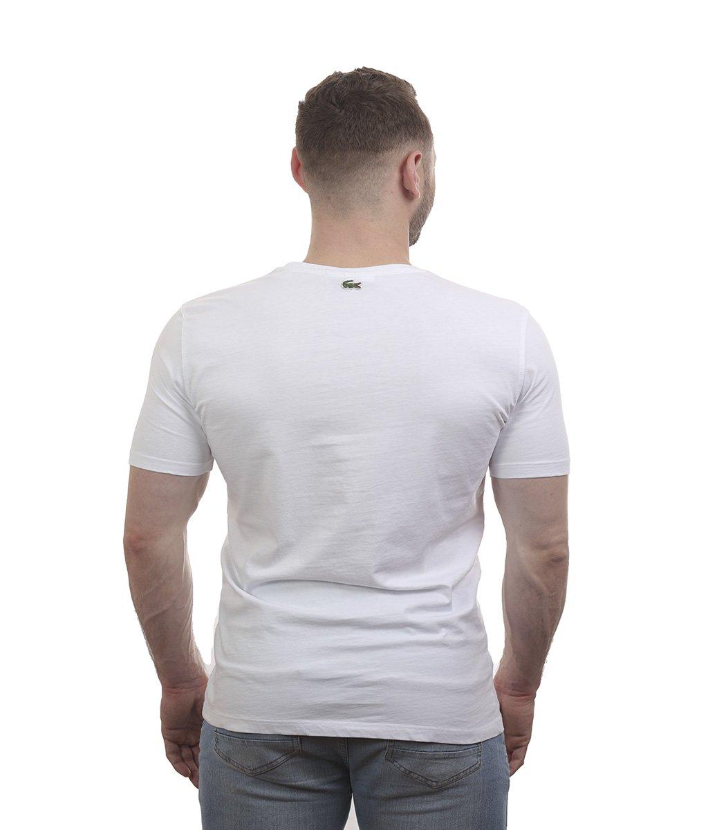 Белая футболка с принтом Lacoste - Белый - Вид 6