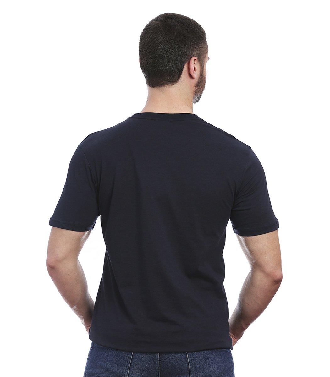 Темно-синяя футболка Paul&Shark с принтом FP1