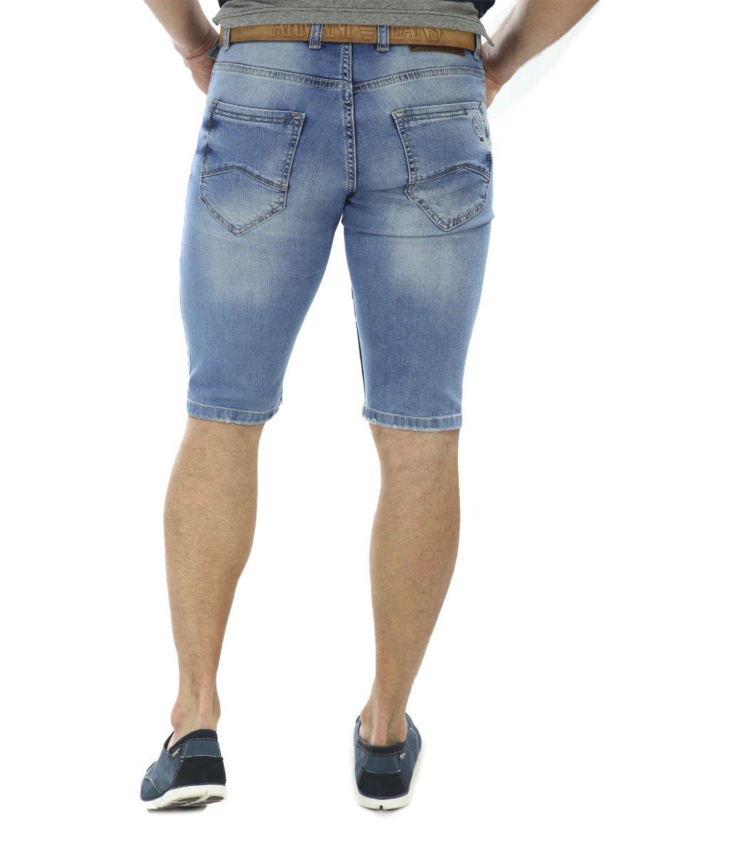 Джинсовые шорты Giorgio Armani+ремень - Голубой - Вид 3