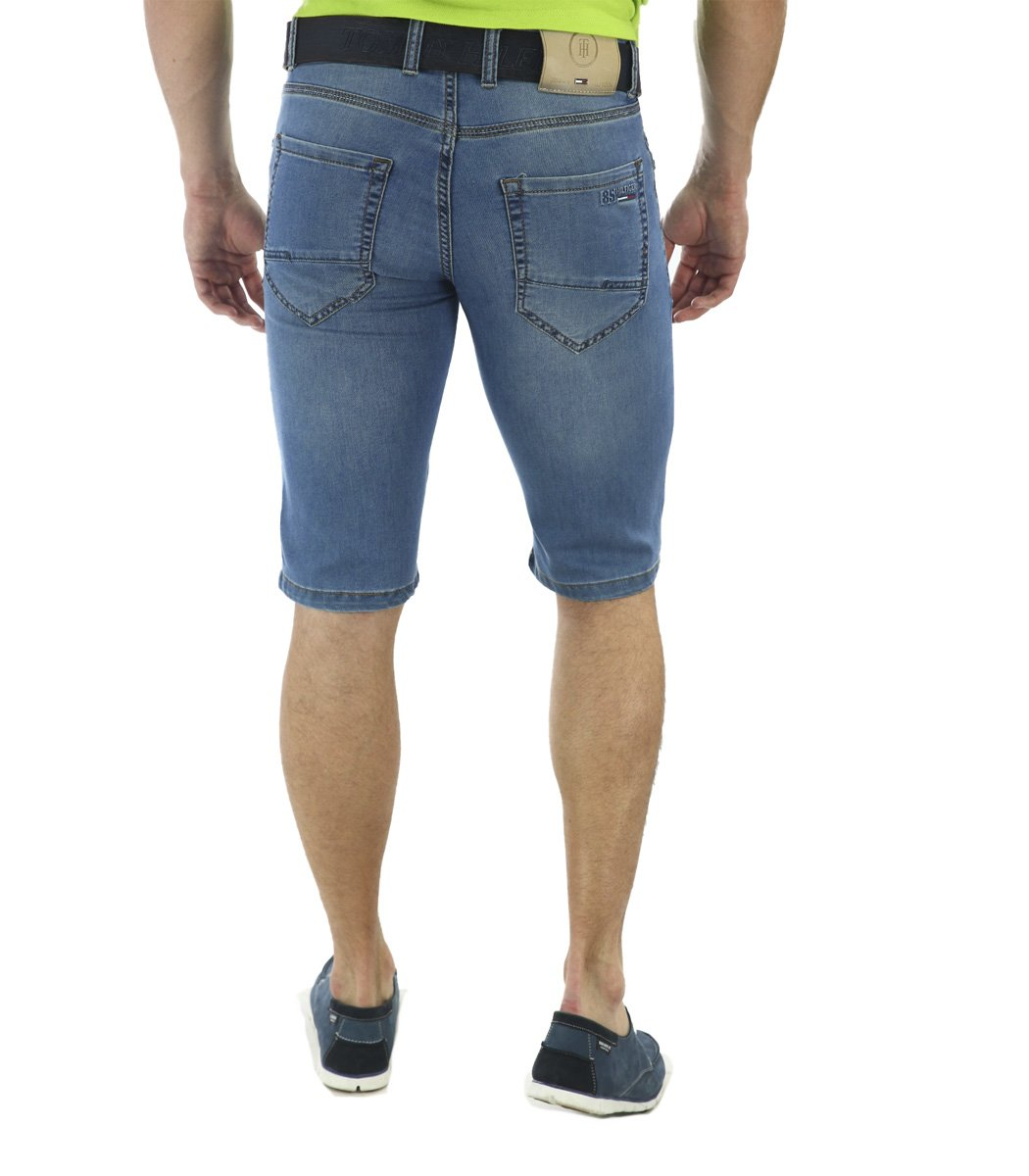 Голубые джинсовые шорты Tommy Hilfiger 12169 - Голубой - Вид 5