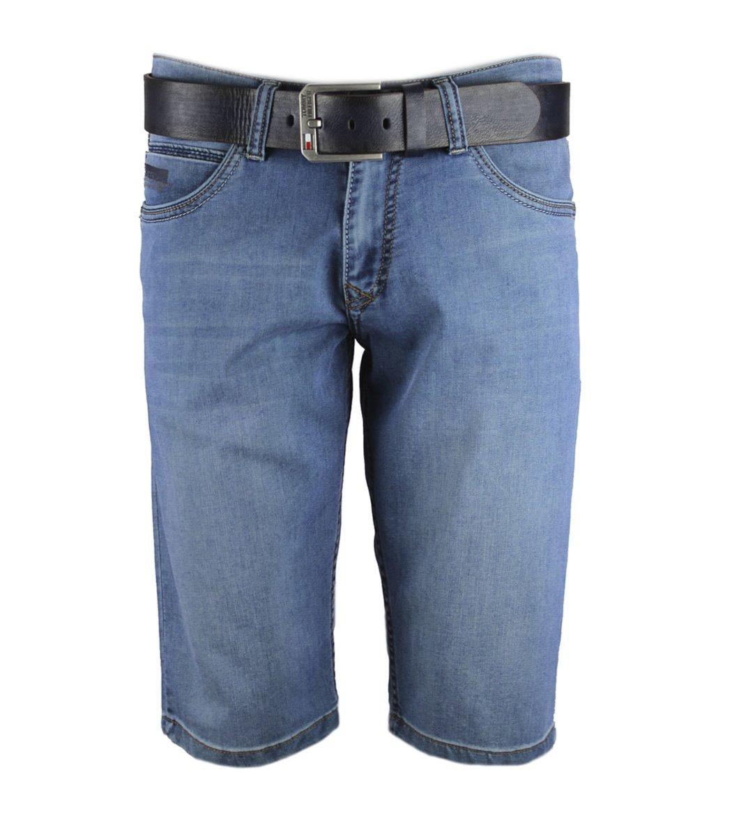 Джинсовые шорты Tommy Hilfiger+ремень - Голубой - Вид 1