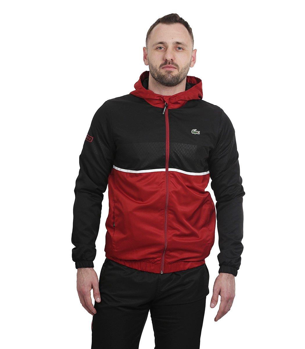 Черно-красный спортивный костюм с капюшоном Lacoste - Черный/красный - Вид 2