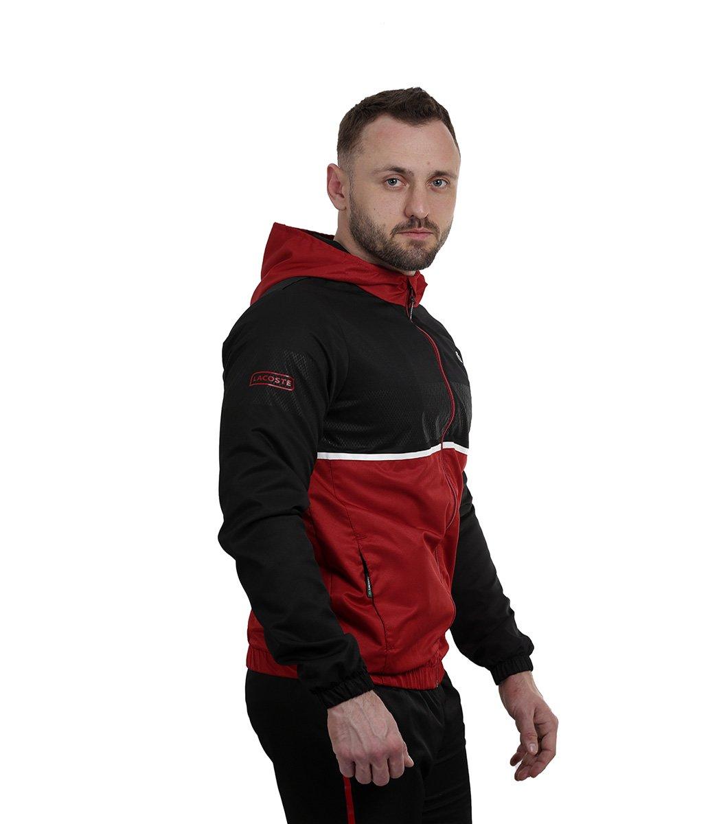 Черно-красный спортивный костюм с капюшоном Lacoste - Черный/красный - Вид 5