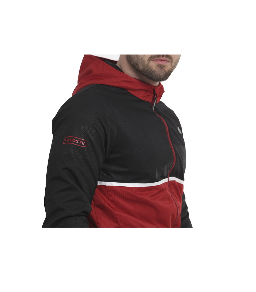 Черно-красный спортивный костюм с капюшоном Lacoste - Черный/красный - Вид 6