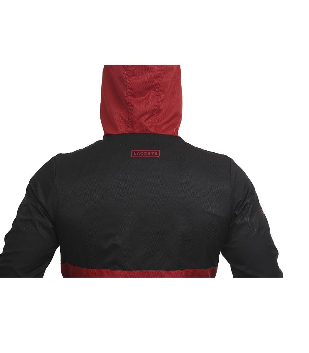 Черно-красный спортивный костюм с капюшоном Lacoste - Черный/красный - Вид 7