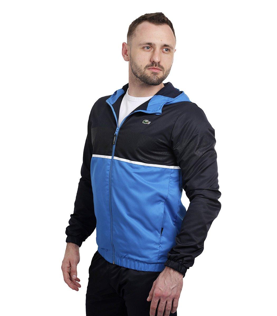 Синий спортивный костюм с капюшоном Lacoste