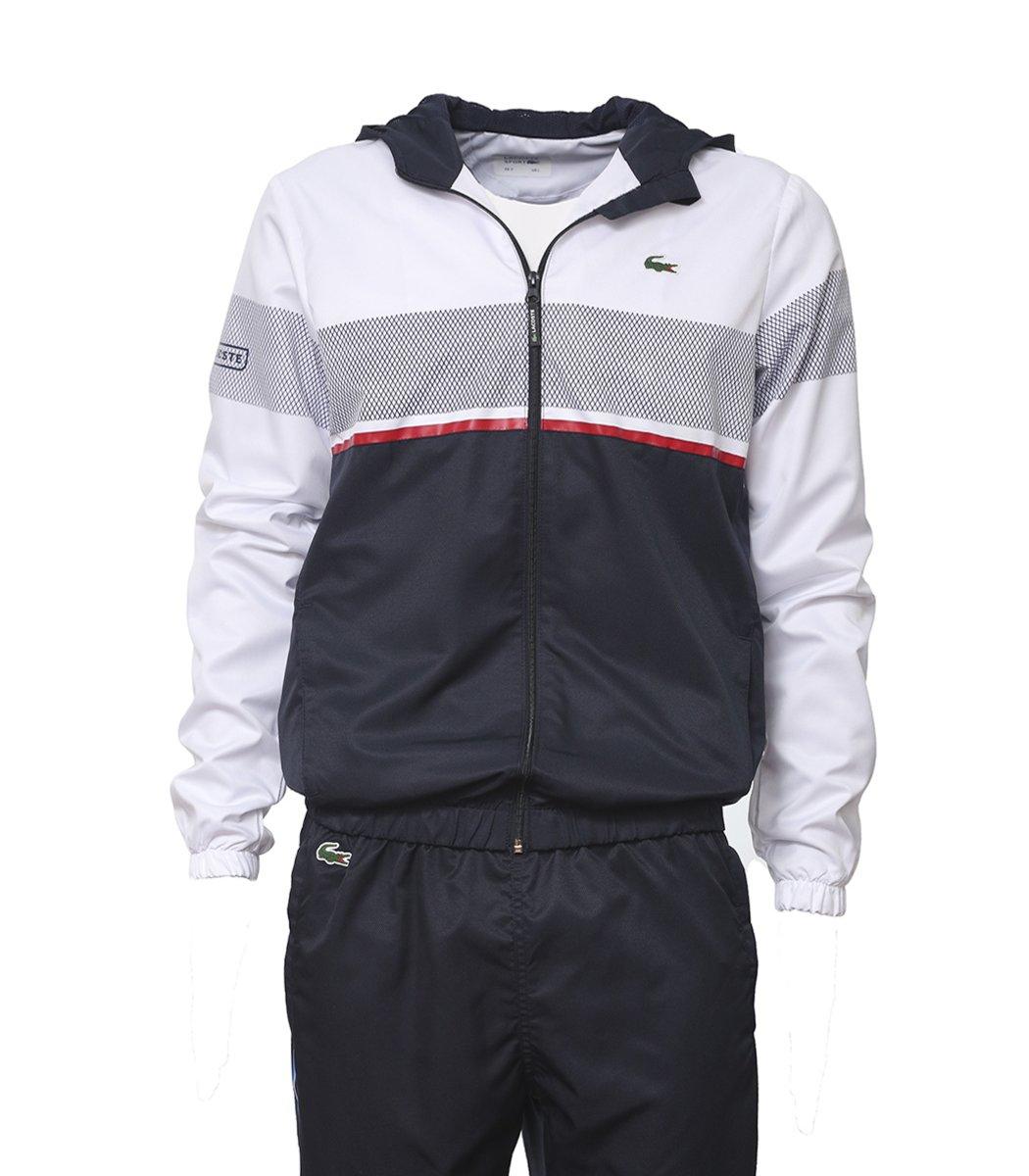 ca811aaab5b1 Купить - Бело-синий спортивный костюм с капюшоном Lacoste-6Lac1 ...