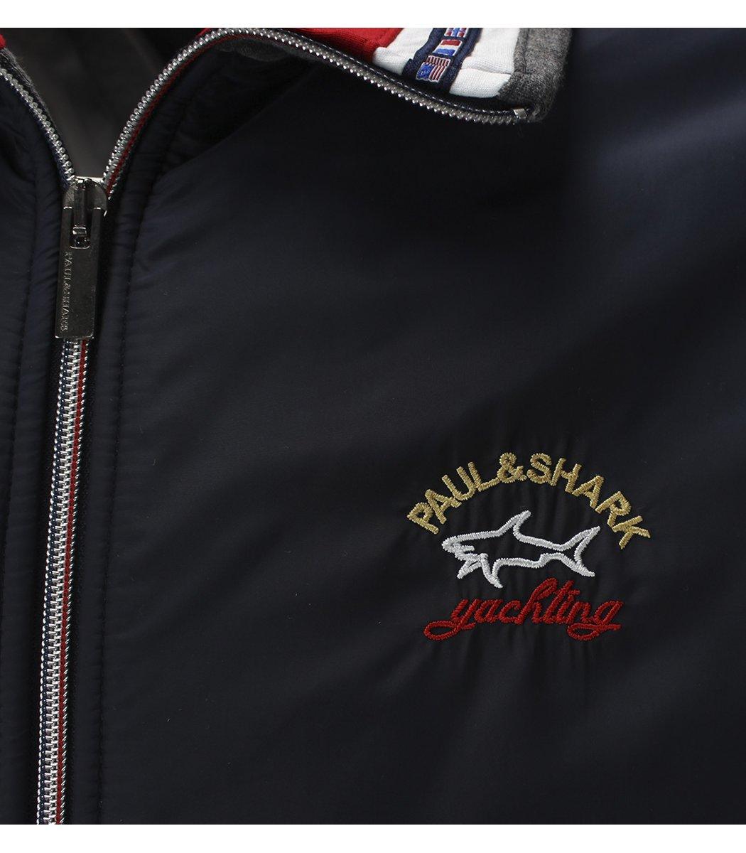 Теплый спортивный костюм Paul&Shark (серый/синий) 0504