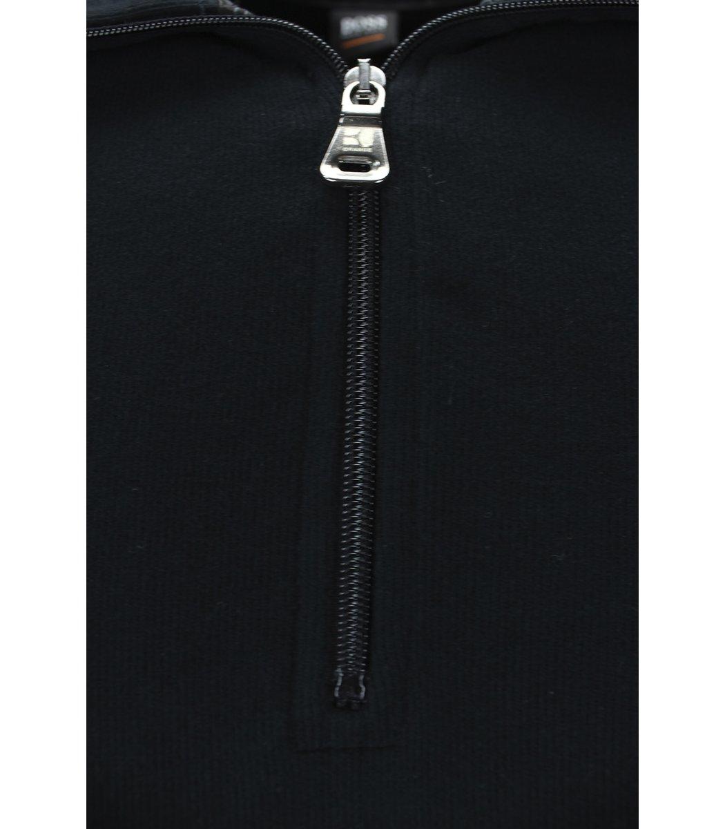 Черная кофта воротник стойка на молнии Hugo Boss CHB1