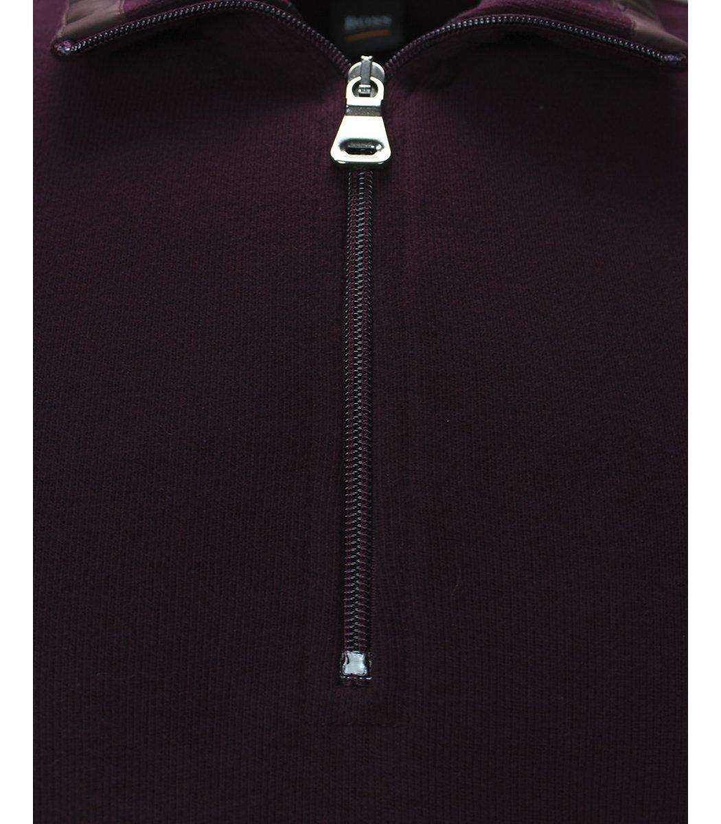 Бордовая кофта воротник стойка на молнии Hugo Boss CHB1