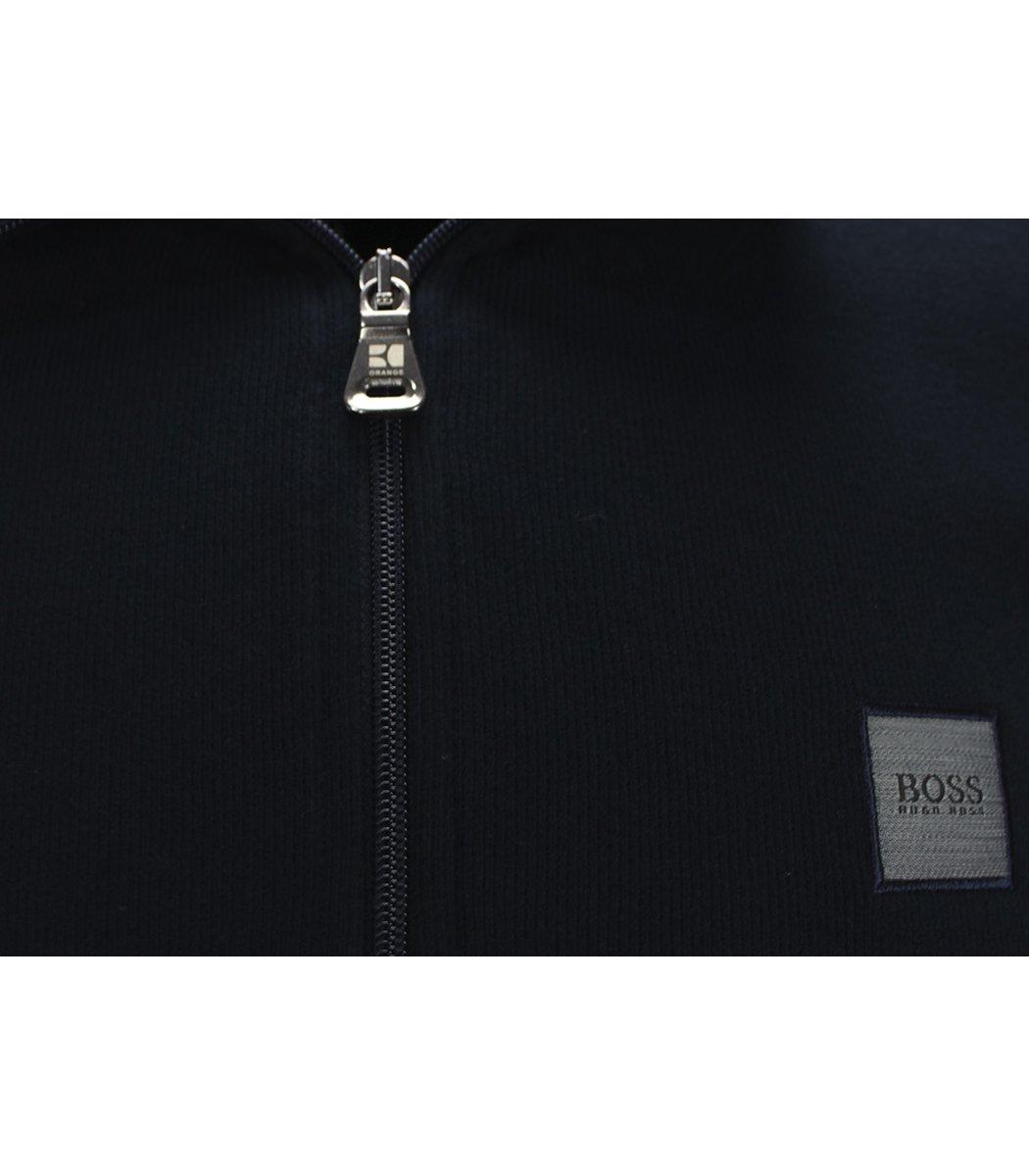 Темно-синяя кофта воротник стойка на молнии Hugo Boss CHB1