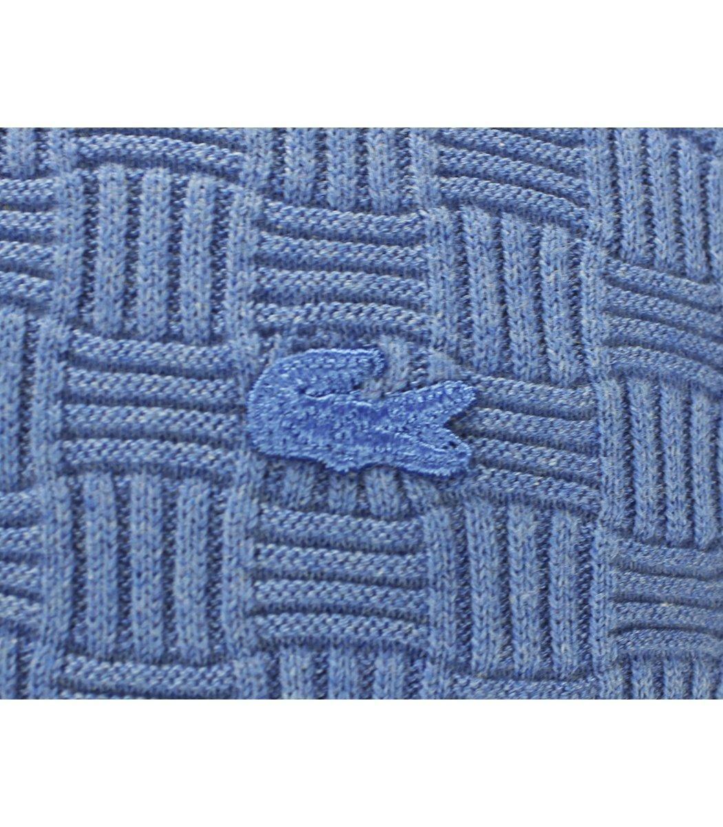 Голубой джемпер Lacoste с узором  JLN