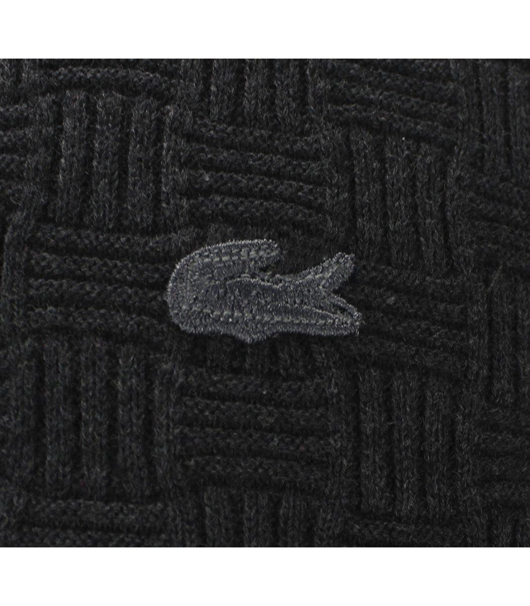 Темно-серый джемпер Lacoste с узором JLN