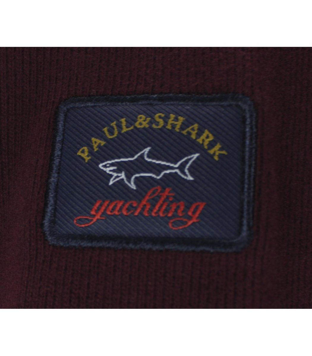 Бордовая кофта воротник стойка на молнии Paul&Shark CP5