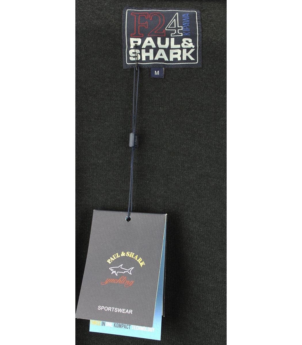 Темно-серая кофта воротник стойка на молнии Paul&Shark CP5
