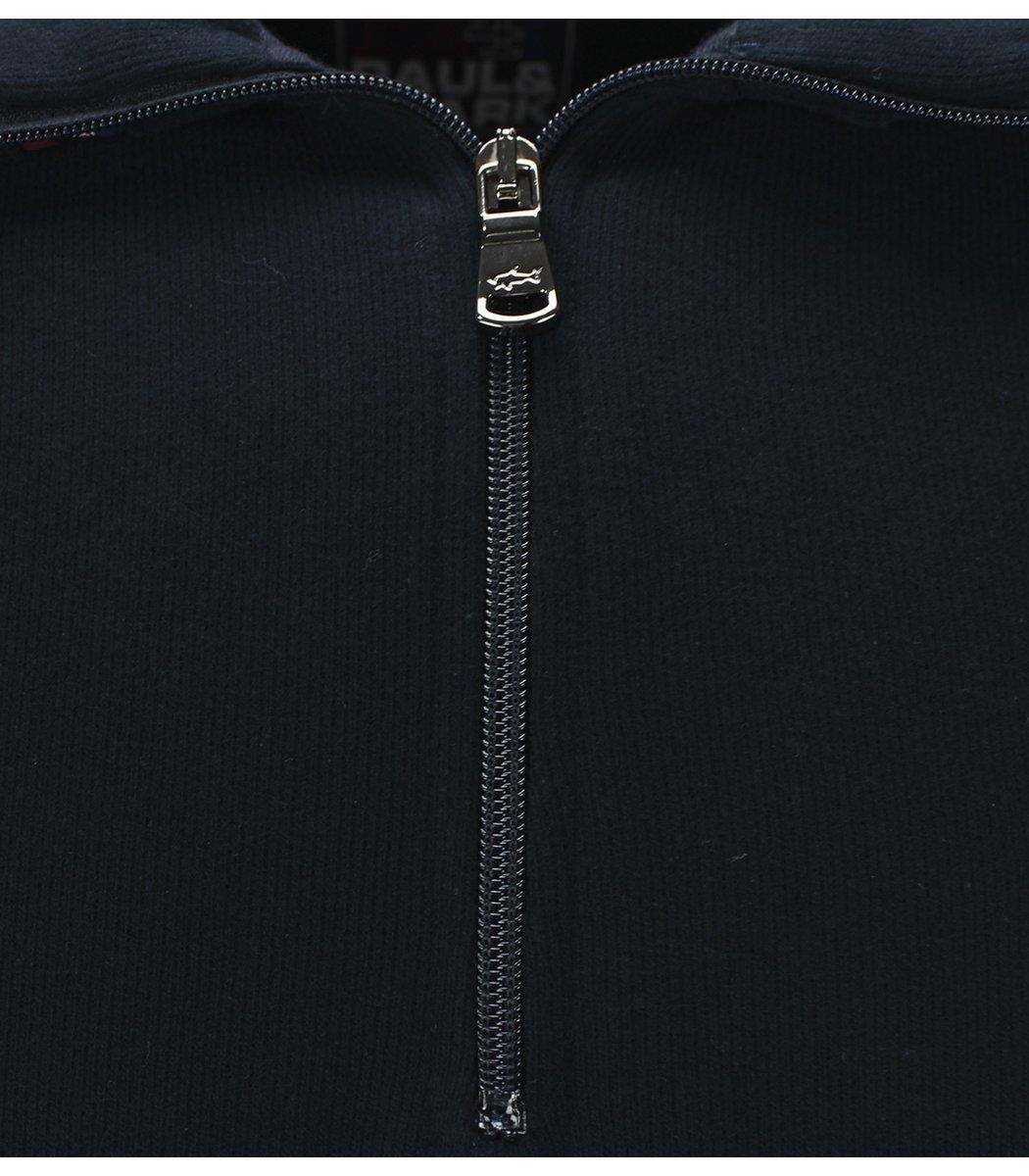 Темно-синяя кофта воротник стойка на молнии Paul&Shark CP5