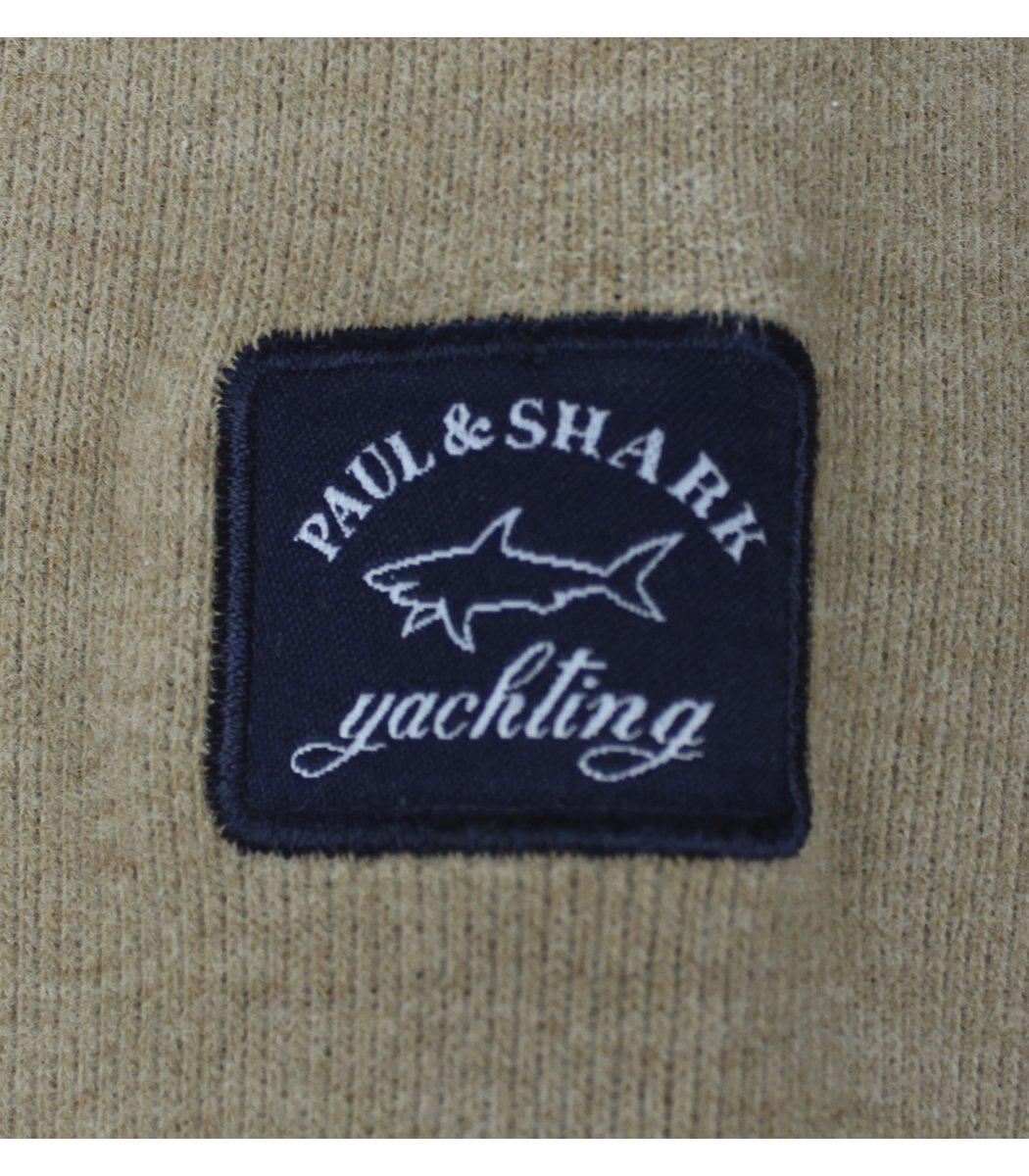 Бежевая кофта воротник стойка на молнии Paul&Shark CP6
