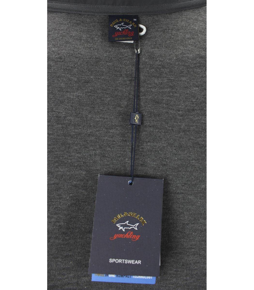 Серая кофта воротник стойка на молнии Paul&Shark CP6
